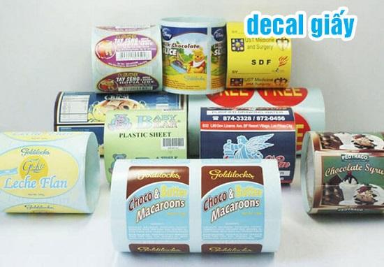 Tại sao in nhãn decal giấy là sự lựa chọn tốt nhất cho các doanh nghiệp?